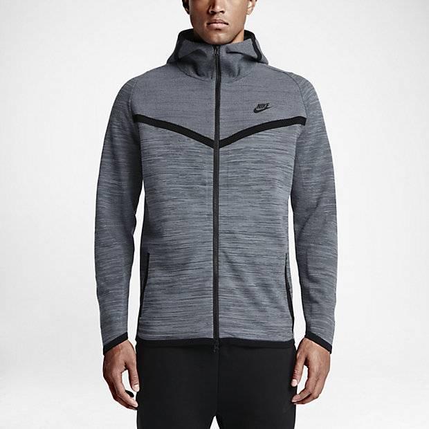 d93af2cf Мужская куртка Nike Tech Knit Windrunner (Серый) (888410953181 ...