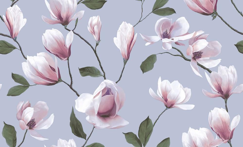 цветы на сером фоне фотообои последней